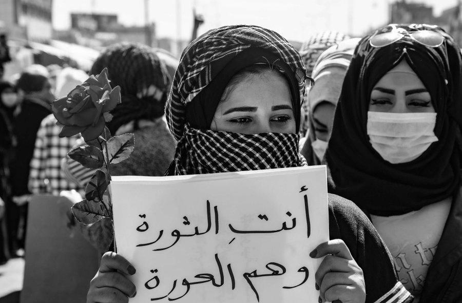 Irak manifestaciones mujeres la-tinta