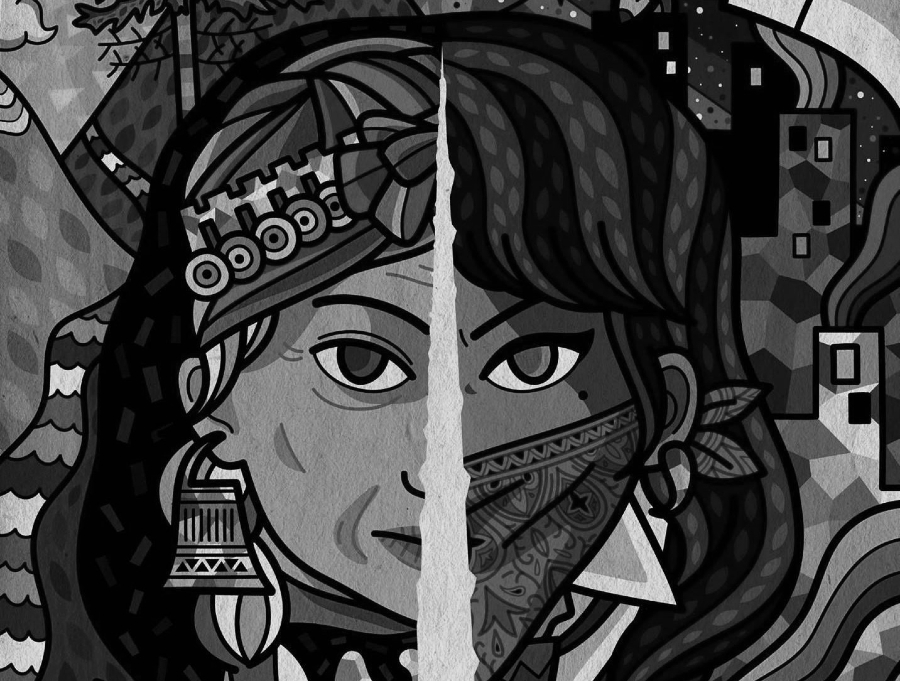 America Latina mural pueblos originarios la-tinta