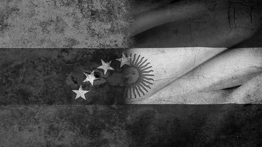 Argentina Venezuela banderas la-tinta