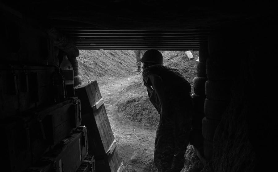 Armenia frente de guerra trincheras la-tinta