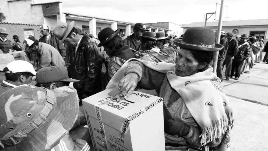 Bolivia comicios presidenciales la-tinta