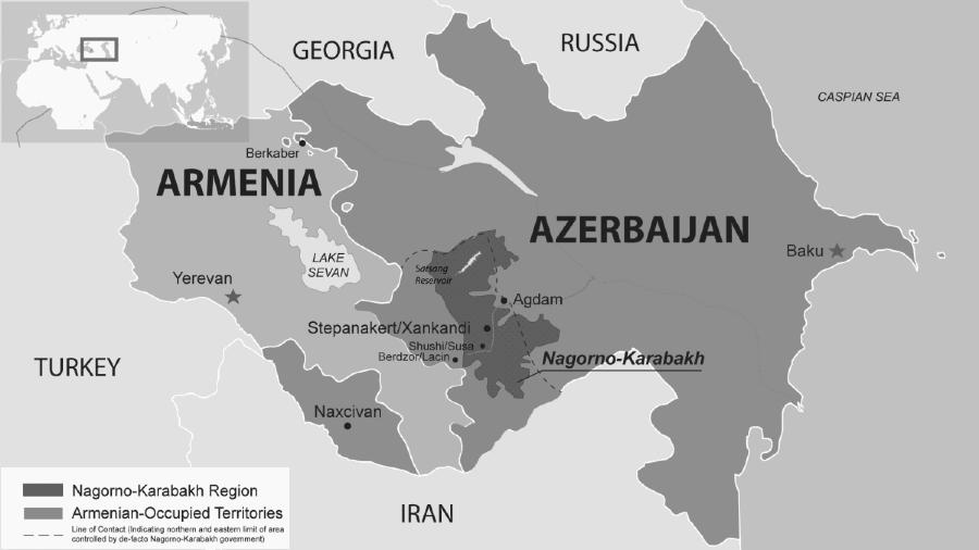 Nagorno Karabaj mapa guerra la-tinta