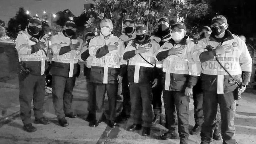 Colombia presidente Duque policias la-tinta
