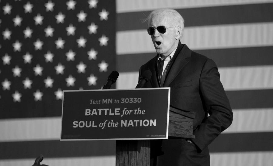 Estados Unidos Biden bandera campaña la-tinta