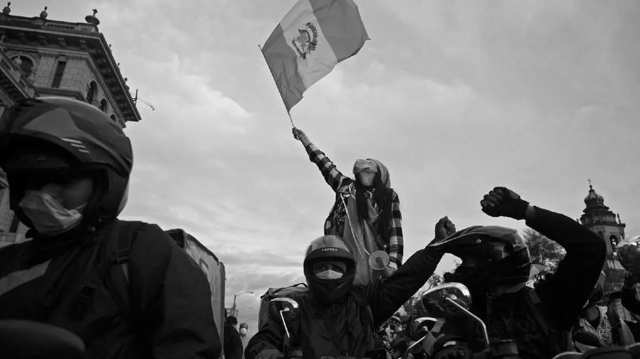 Guatemala movilizaciones contra el gobierno la-tinta