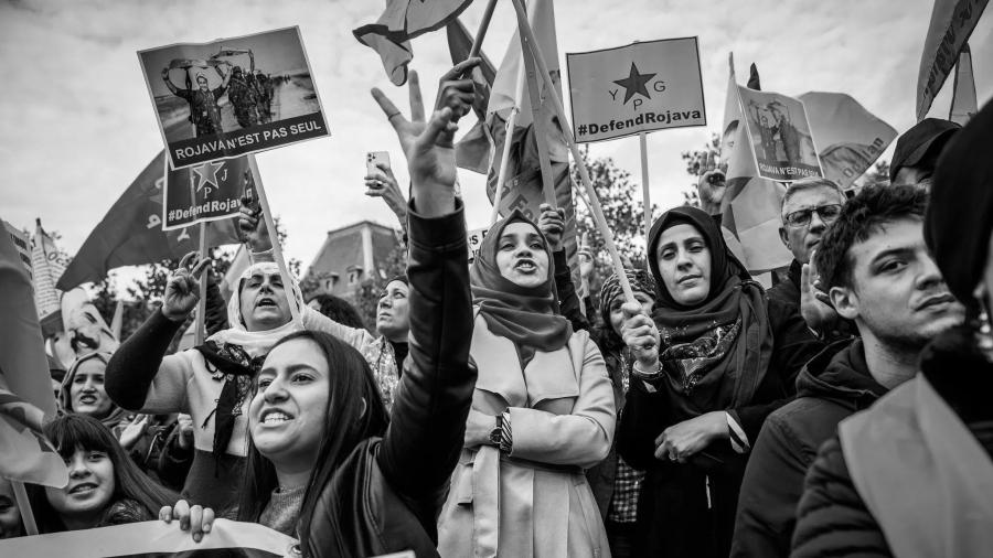 Kurdistan mujeres de Rojava la-tinta