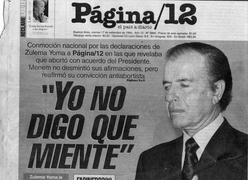 Carlos-Menem-Página-12-Zulema-aborto