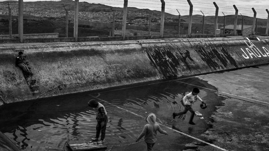 Perro Cerro Pasco niños contaminacion la-tinta