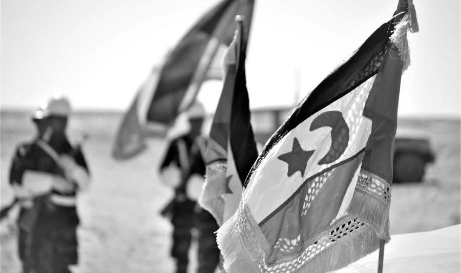 Sahara Occidental banderas la-tinta