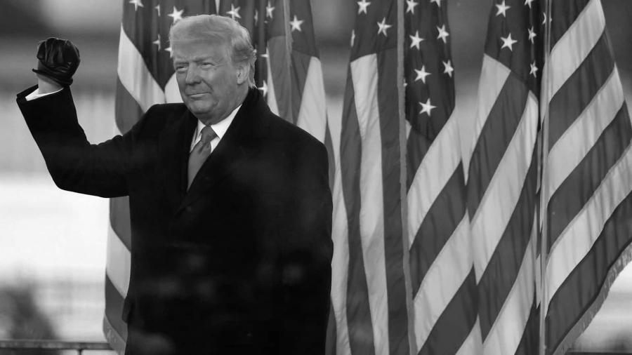 Estados Unidos Donald Trump bandera USA la-tinta