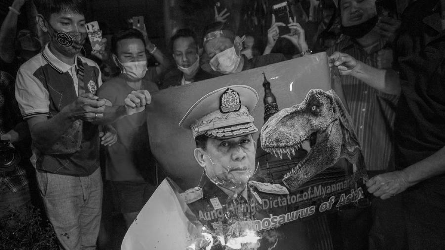 Myanmar protestas contra golpe de estado 2021 la-tinta