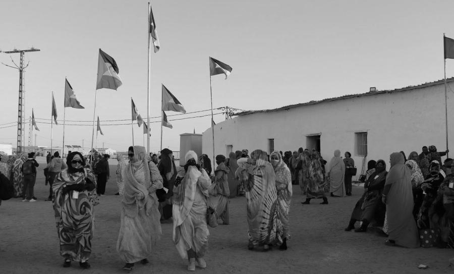 Sahara occidental campamento de refugiados mujeres la-tinta