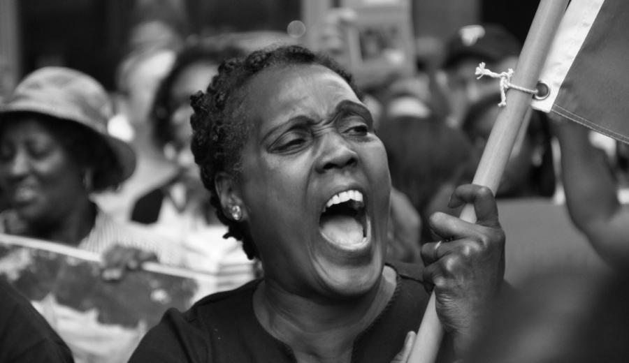 Haiti mujer movilizacion la-tinta