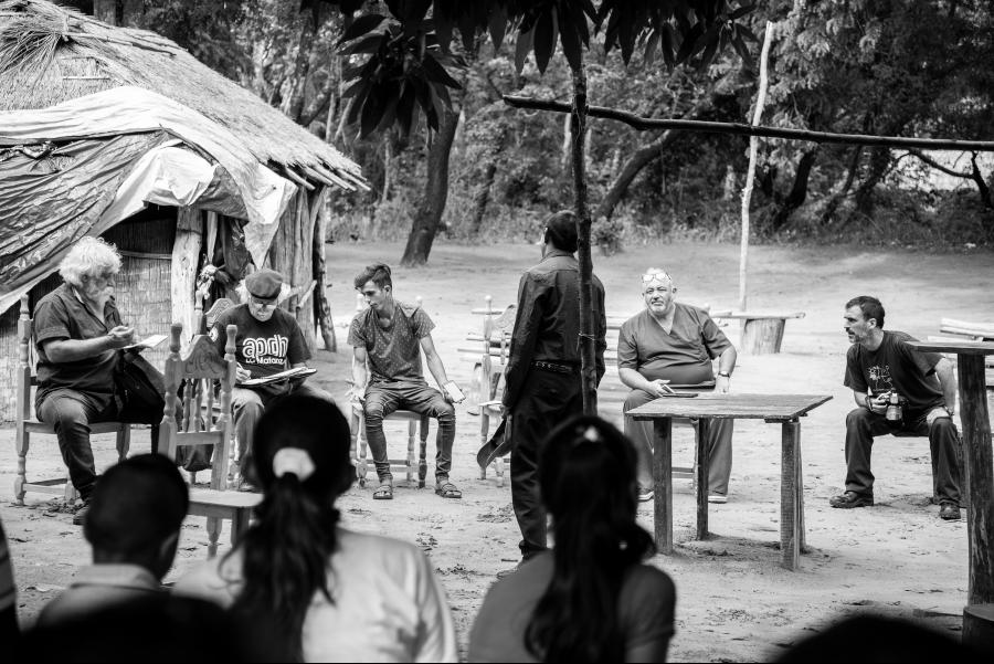 Paraguay Comunidad guarani comitiva argentina la-tinta