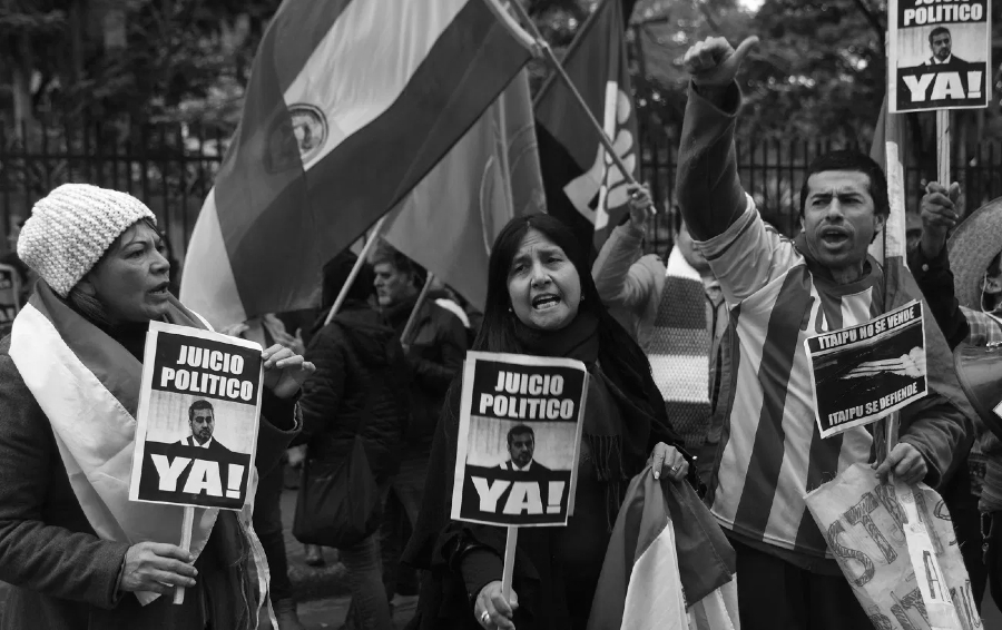 Paraguay manifestantes piden juicio político la-tinta