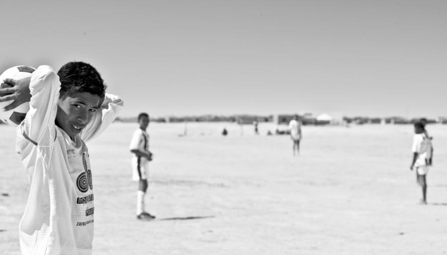 Sahara Occidental niños futbol la-tinta