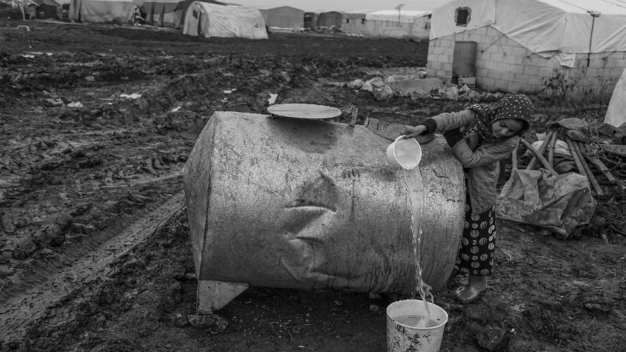 Siria falta de agua potable la-tinta