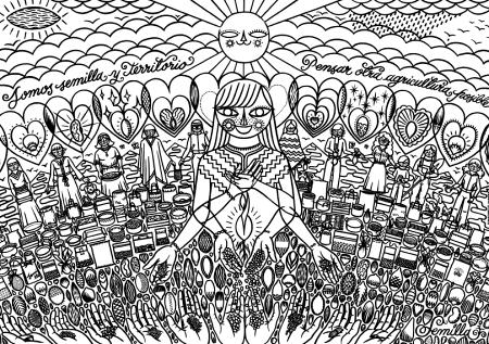 láminas-dibujar-minería-pachamama