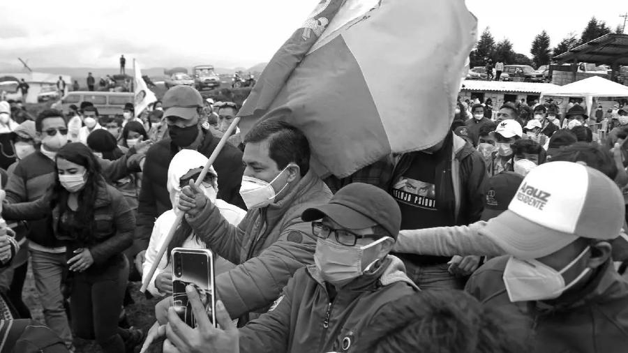 Ecuador Andres Arauz campaña balotaje la-tinta