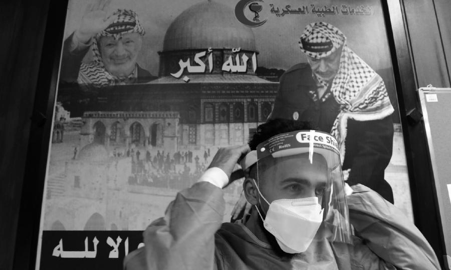 Palestina Covid personal medico la-tinta