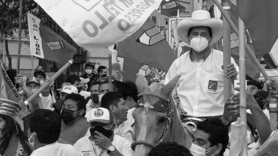 Pero candidato presidencial Pedro Castillo la-tinta