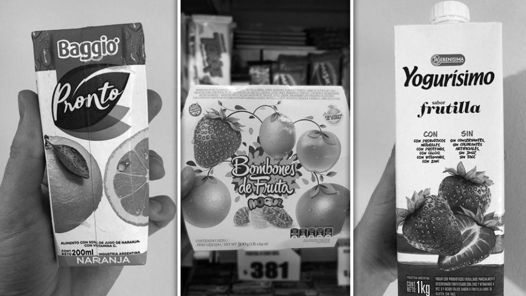 alimentos-fruta-lácteos-etiquetados