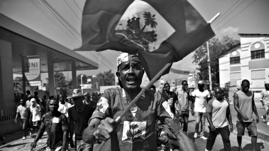 Haiti bandera protestas la-tinta