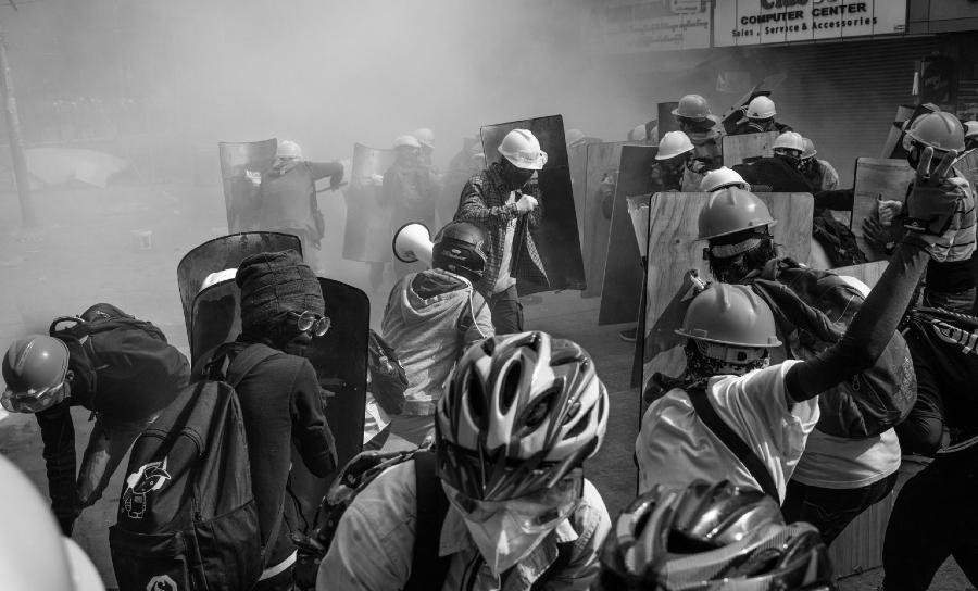 Myanmar protestas contra golpe de estado la-tinta