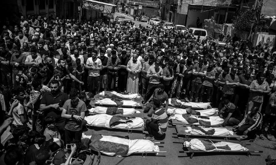 Palestina Gaza muertos por bombardeos la-tinta