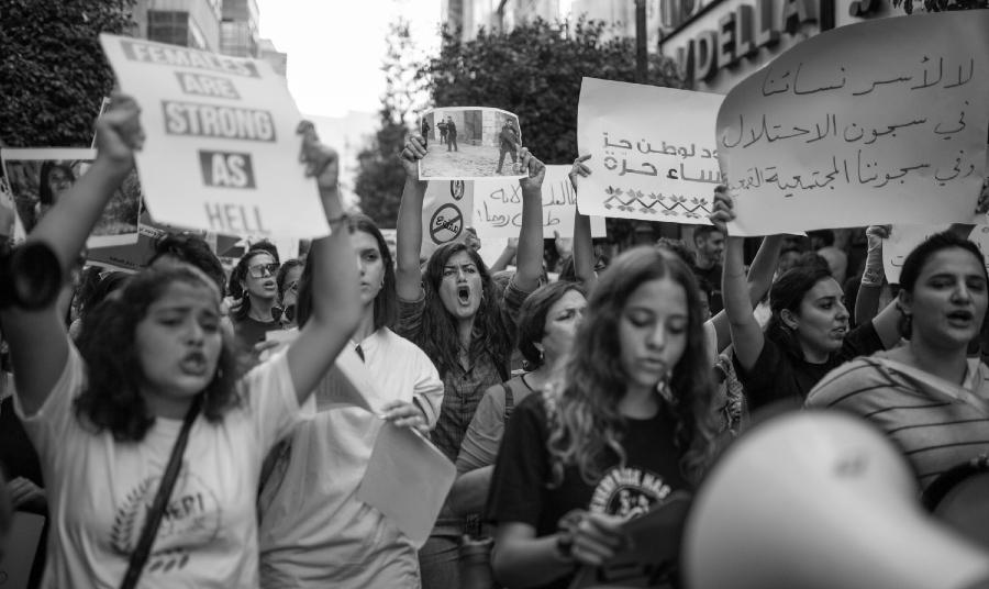 Palestina feminismos marcha la-tinta