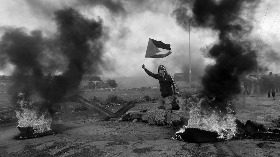 Palestina protestas contra Israel la-tinta
