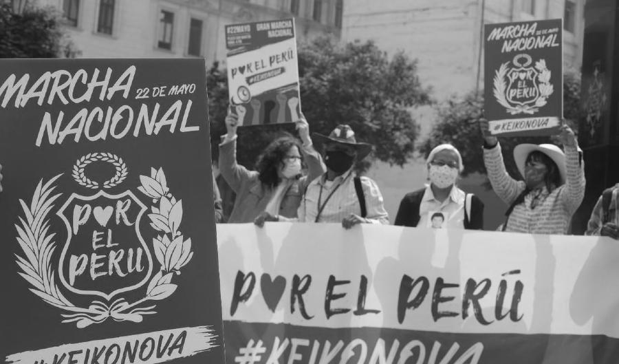 Pero marcha nacional contra Keiko Fujimori la-tinta