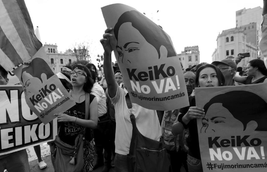 Peru marcha contra Keiko la-tinta