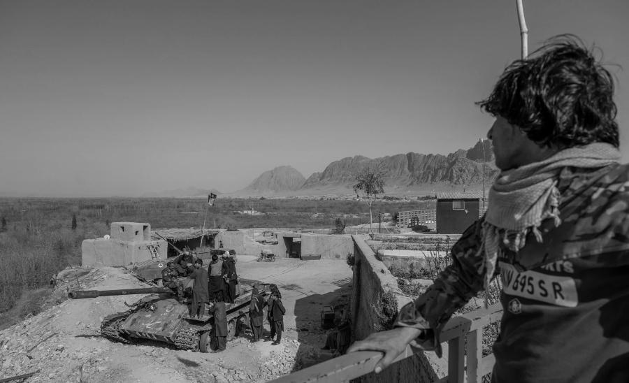 Afganistan puesto del ejercito la-tinta