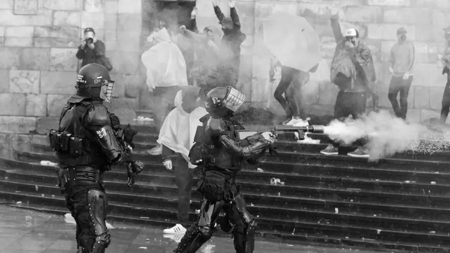 Colombia represion masiva de la policia la-tinta
