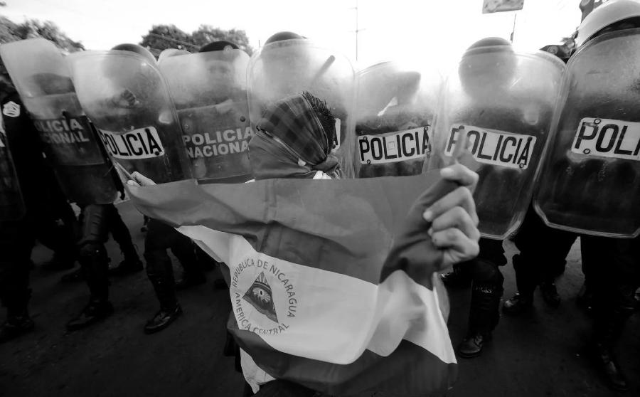 Nicaragua represion policial la-tinta
