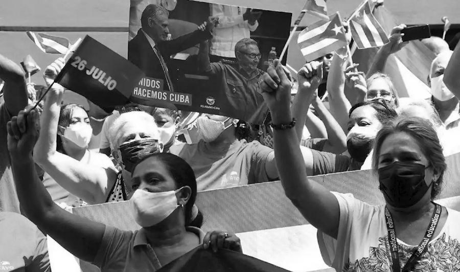 Cuba apoyo a la revolucion manifestaciones la-tinta