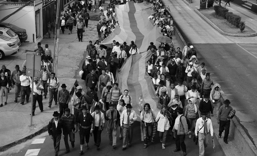 Ecuador Conaie movilizacion la-tinta