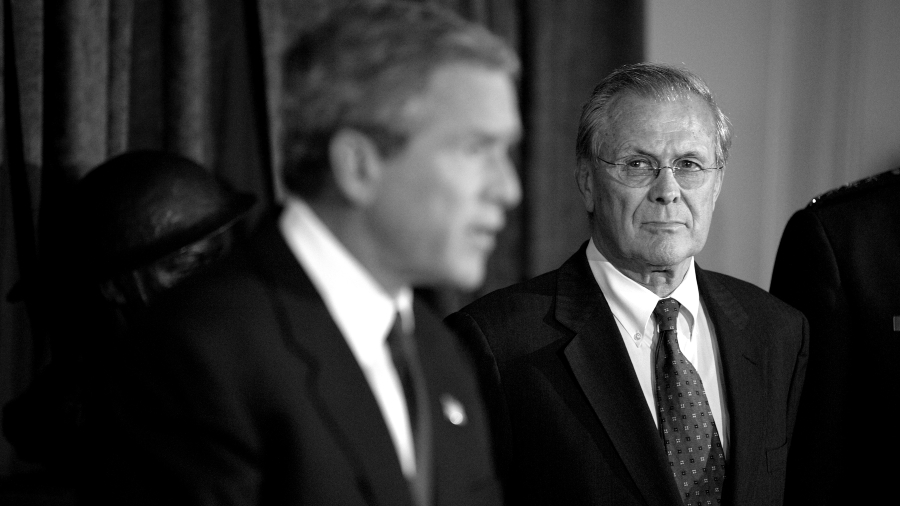 Estados Unidos Bush Rumsfeld 11S la-tinta
