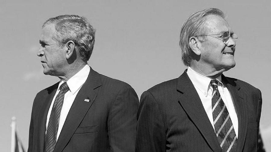 Estados Unidos Bush Rumsfeld la-tinta