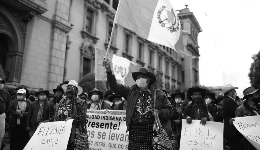 Guatemala campesinos movilizacion la-tinta