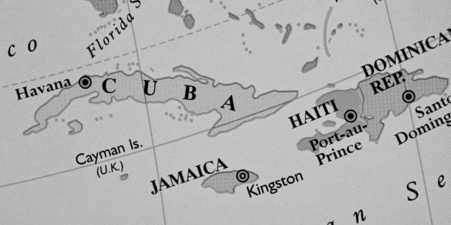 Haiti mapa caribe la-tinta