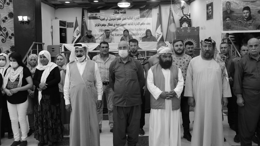 Irak IV Congreso yezidies Shengal la-tinta