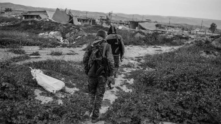 Irak Shengal YBS autodefensas la-tinta
