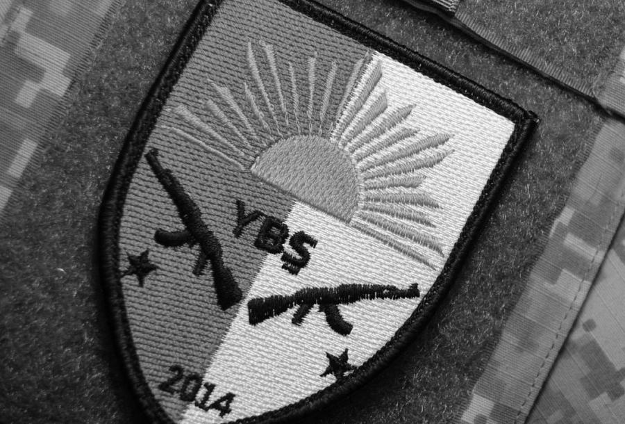 Irak Shengal YBS simbolo la-tinta