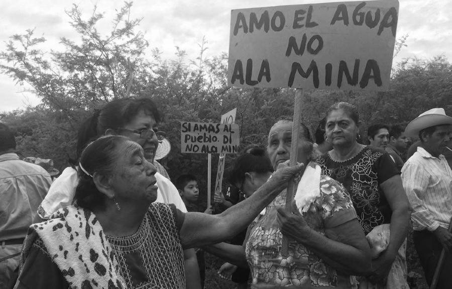 Mexico chimapala no a la mina la-tinta