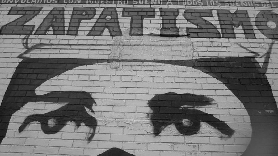 Mexico zapatismo mural la-tinta