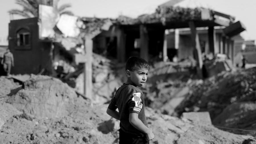 Palestina Franja de Gaza niño la-tinta