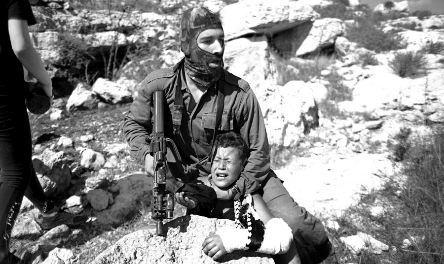 Palestina soldado israli niño la-tinta