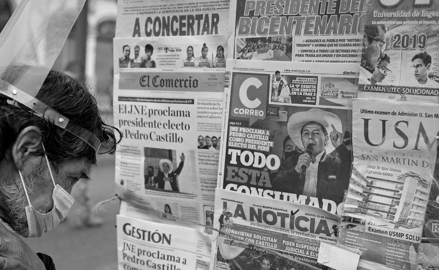 Peru Pedro Castillo medios de comunicacion la-tinta